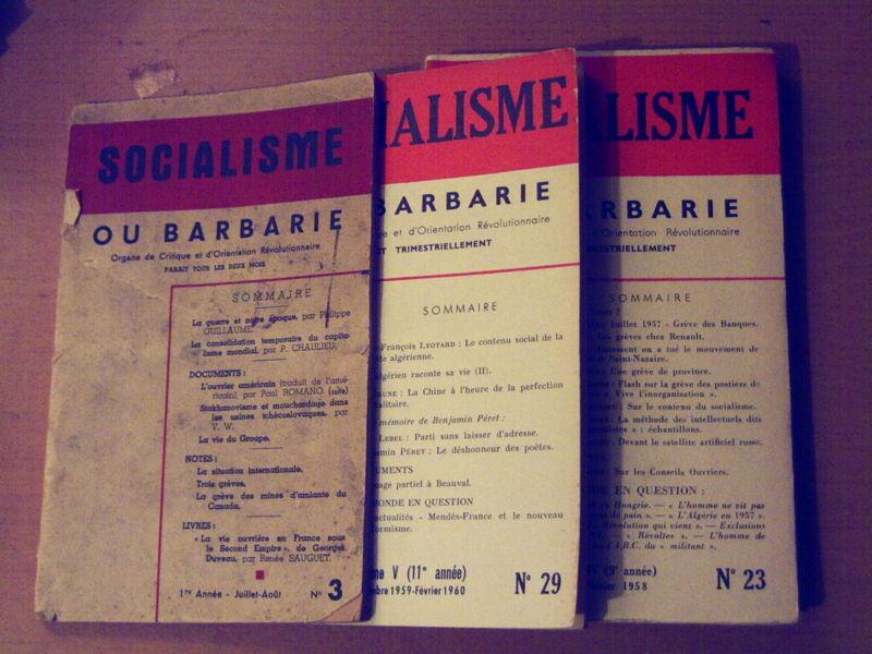 Sessenta anos de «Socialisme ou Barbarie»