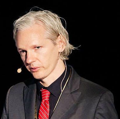 Julian Assange durante apresentação em Copenhagen