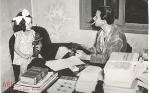 Hermínio Sacchetta e a filha Lia em 1944