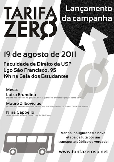 DOSSIÊ: Campanha pela Tarifa Zero