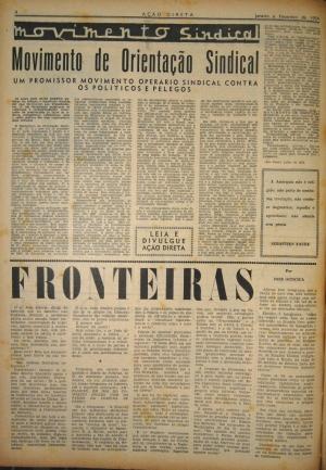 Anúncio da fundação do Movimento de Orientação Sindical em Ação Direta
