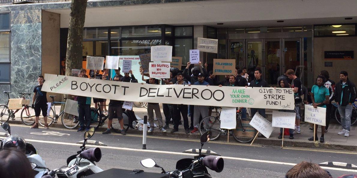 Luta nos aplicativos: Organização dos trabalhadores da Deliveroo e UberEATS em Londres
