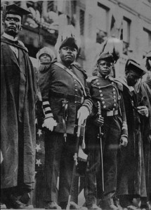 Garvey num desfile