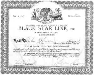 Uma ação da Black Star Line