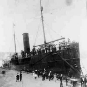 um navio da Black Star Line