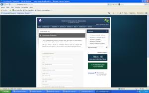 Sistema de emissão de boleto bancário on-line para a contribuição financeira para a FIB