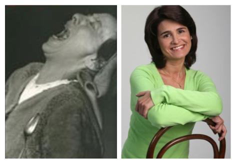 À esquerda, Helene Weigel em A Mãe de Bertolt Brecht. À direita, uma actriz talentosa que se iniciou num dos melhores grupos de teatro portugueses e que agora é vedeta de telenovela.