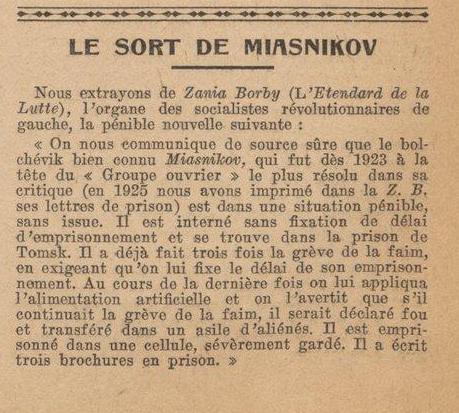 A oposição bolchevique contra Lênin: G. I. Miasnikóv e o Grupo Operário (4)