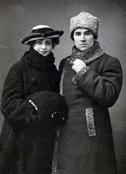 Sultan-Galiev e Fatma Erzina em Moscou, 1919