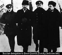 Trotsky na delegação soviética a Brest-Litovsk