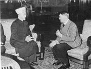 Parece que conheço este que está a conversar com o mufti de Jerusalém