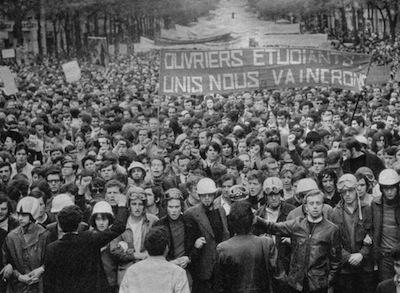 """Maio de 1968, em Paris: """"Operários Estudantes - Unidos venceremos"""""""