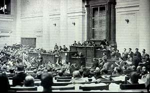 Sessão do 1º Congresso Pan-Russo dos Sovietes