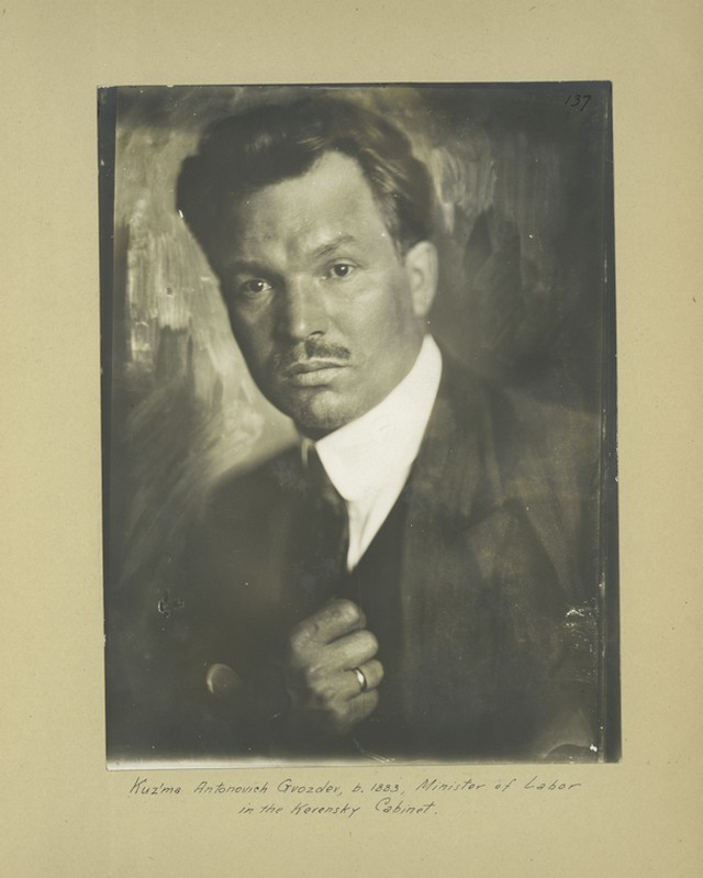 Kuzma Antonovich Gvozdev, ministro do trabalho do Governo Provisório
