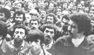 Os trabalhadores do petróleo entraram em greve nos finais de 1978.