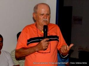 Otavino Alves da Silva, fundador da POLOP, em Eunápolis-BA (2010)