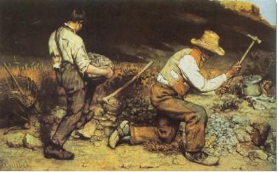 """""""Os Britadores de Pedra"""" (1849-50), considerado por Proudhon a primeira obra socialista"""