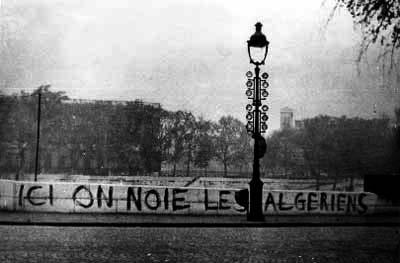 «Aqui afogaram os argelinos»