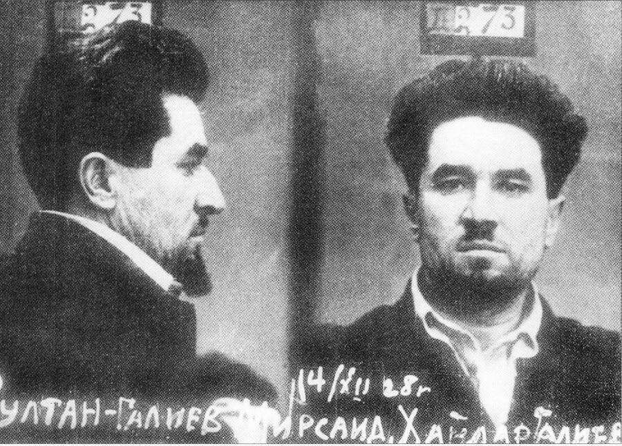 Foto de Sultan-Galiev novamente preso, em 14 dez. 1928