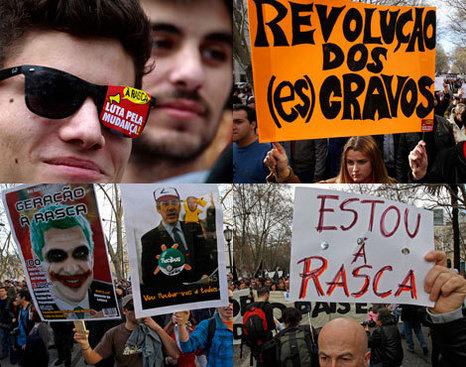 """Na manifestação da """"geração à rasca"""", Lisboa, 12 de Março de 2011"""