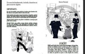 Fig. 4: Trecho da cartilha sobre abordagem policial, feita por ativistas do morro Santa Marta e colaboradores.