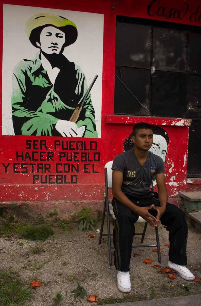 Estudante da Escola Normal Rural de Ayotzinapa