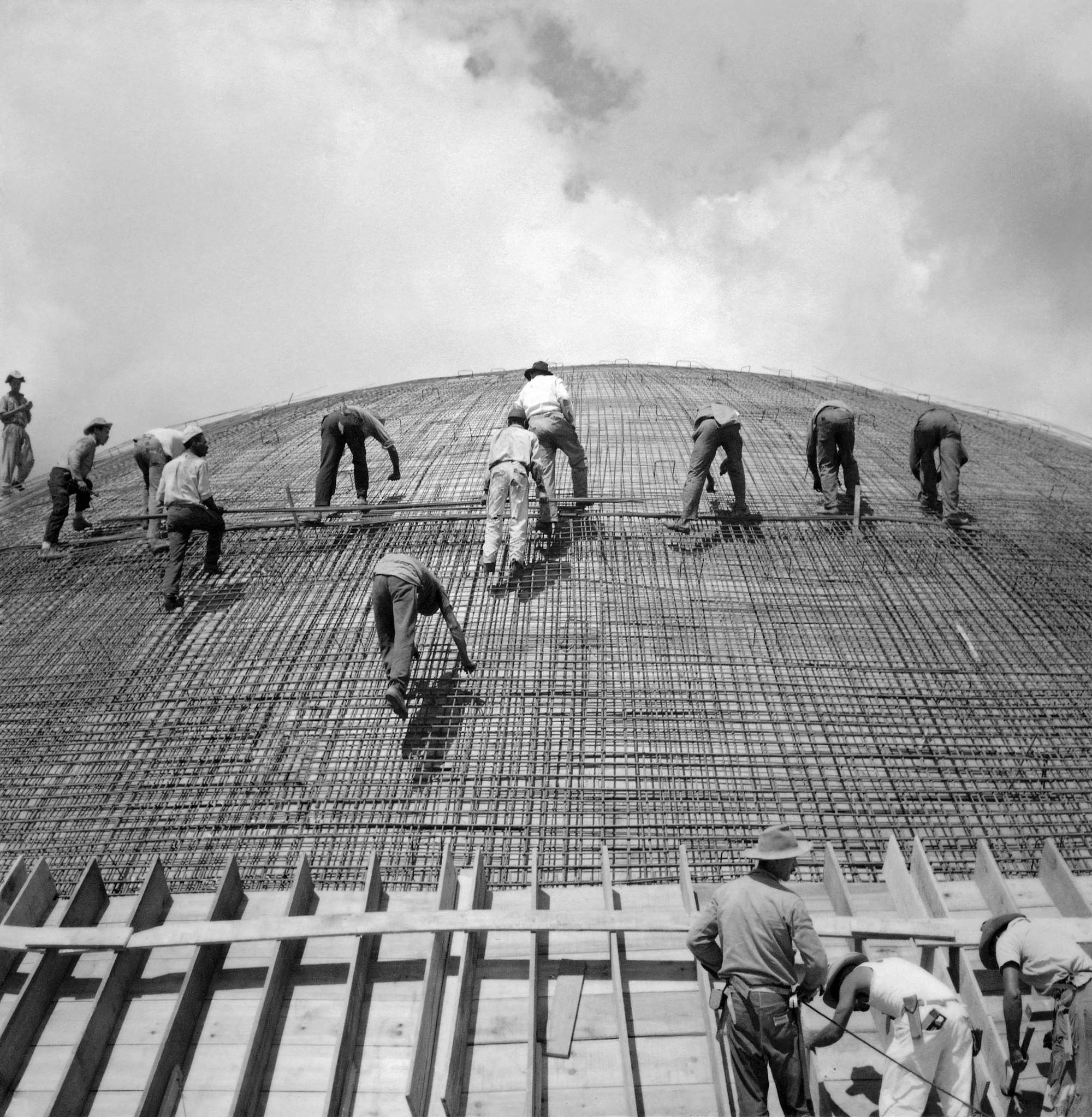 Construção de Brasília, por Marcel Gaucherot (1)
